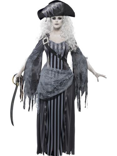 Ghost SHIP Princess Adult Womens Pirate Halloween Costume Fancy Dress w Hat | eBay
