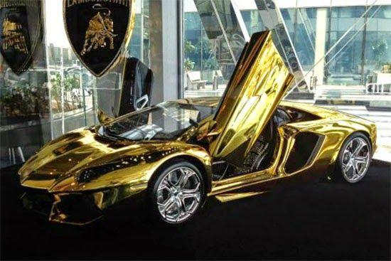 Lamborghini revelou um carro feito de ouro, platina e ...