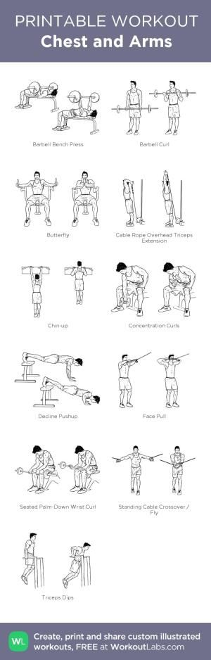 Chest and Arms:my custom printable workout by @WorkoutLabs #workoutlabs #customworkout by jeannine
