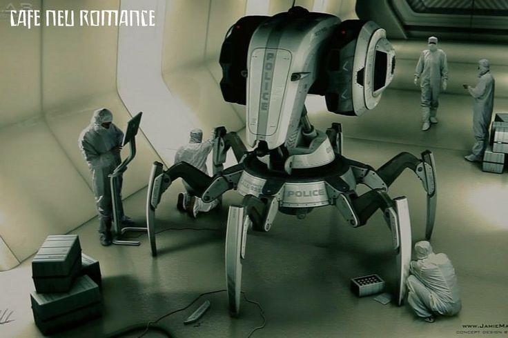Jamie Martin (GRB): C.R.A.B. robot.  Info: http://cafe-neu-romance.com/press-media/cnr-2013/cnr-2013-exhibition-jamie-martin-%28gbr%29
