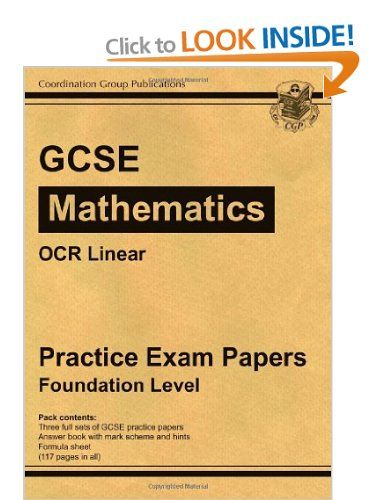 GCSE Maths OCR Linear Practice Papers - Foundation: Practice Exam Papers: Foundation Level: Amazon.co.uk: Richard Parsons: Books