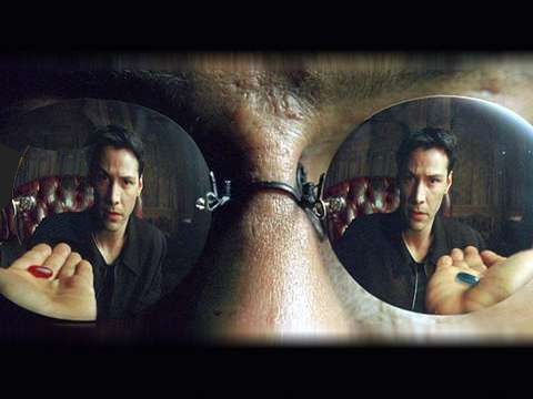 Blue pill, Blue Pill, Blue Pill!! Red Pill? Ok, well no more really good noodles for you...