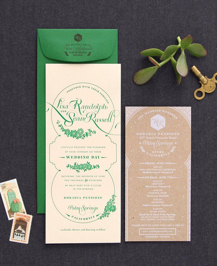 Moroccan Inspired Wedding Invitation 248 best Green