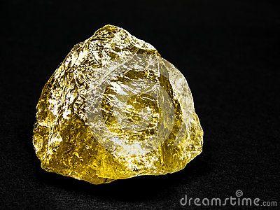 Smoky quartz golden, translucent variety of quartz, copy space black background