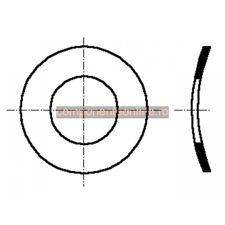 Saiba elastica, arcuita, 3,2x6mm, otel inoxidabil A2, Bossard - 007246