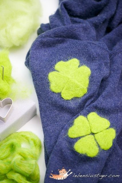 Felted patches for worn-out sweater elbows @ I Got Lucky! - Lebenslustiger.com