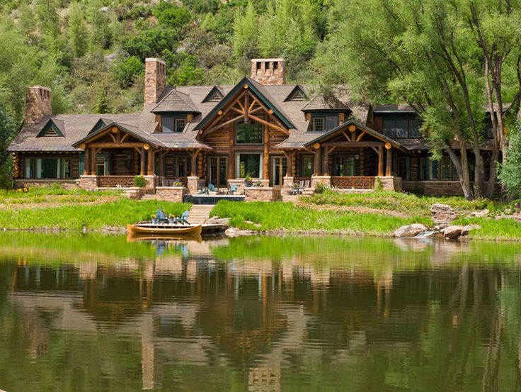 133 best log homes images on pinterest log houses wood for Homes in the mountains