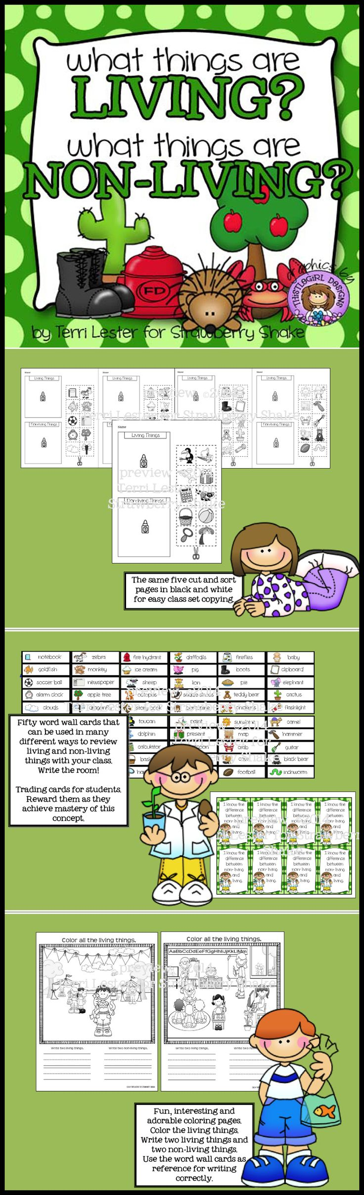 What things are Living and Non-Living? A science picture sorting activity