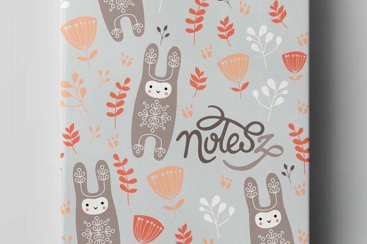 BUNNY/RABBIT pocket notebook, notes(z) #stationery #baby #kidsroom #bunny #rabbit #illustration #design #notebook #cute