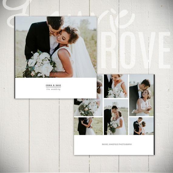 Hochzeit Album Vorlage: Black Tie – 10 x 10 Hochzeit Buch Vorlage für Photoshop