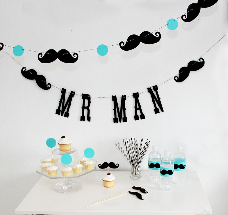 Mr Man Birthday Garland Boy Party Little Man by LittleRetreats