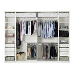 """PAX Wardrobe, white - white - 118 1/8x22 7/8x93 1/8 """" - IKEA"""