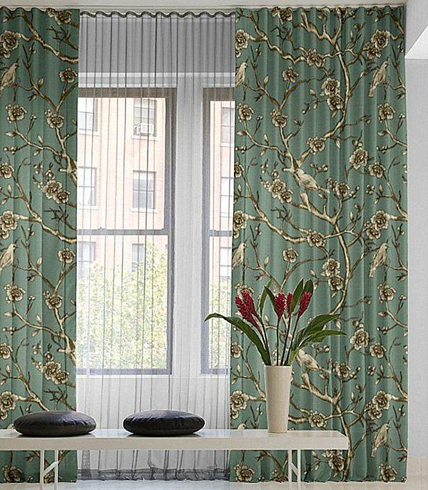 13 best Layered Ripplefold Window Treatments images on ...