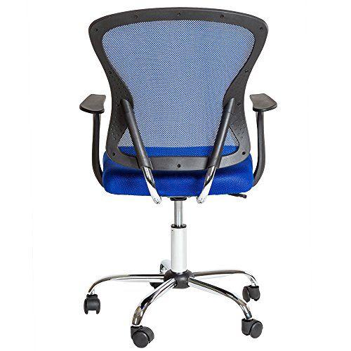 tectake silla de oficina giratoria silln ejecutivo silla de escritorio azul tejid http
