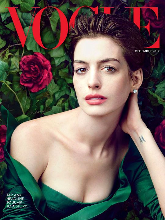 """annehathaway: """"Anne Hathaway on the cover of Vogue ..."""