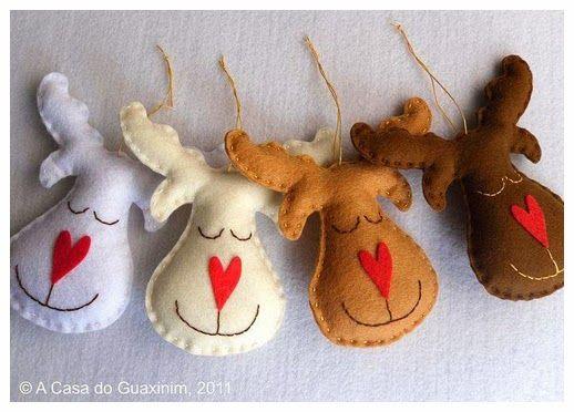 ARTESANATO COM QUIANE - Paps,Moldes,E.V.A,Feltro,Costuras,Fofuchas 3D: 8 modelos de Renas para você se inspirar nesse Natal e fazer também!
