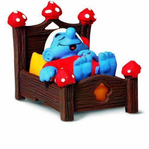 Schleich Smurf in Bed Toy Figure