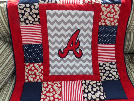 Customized Baseball Baby Quilt by memomslove on Etsy