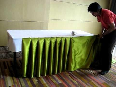 Tableteado para mesa actividad. Pleats for a party table - By Suppaluck
