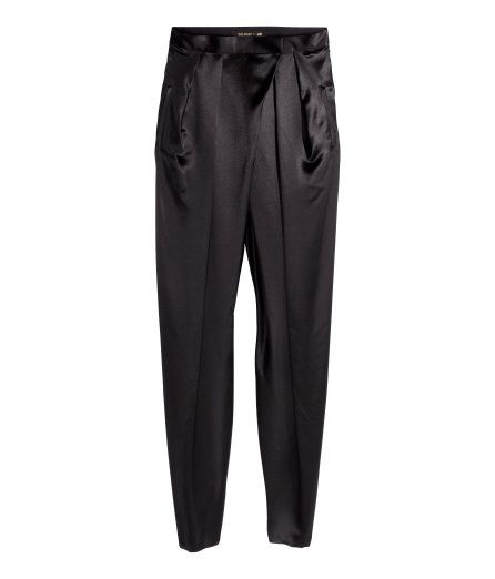 H M Balmain Silk Satin Sit Pants Fashion Police Celebrity Status Pinterest And