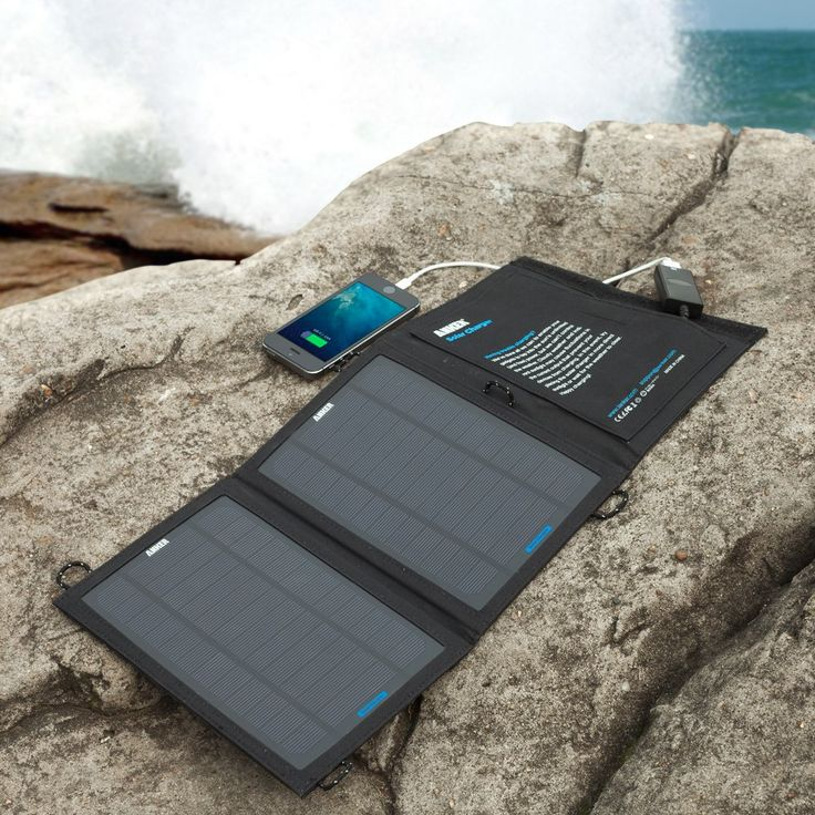 29.99 - Amazon.com: Anker® 8W Portable Foldable Outdoor Solar Charger with PowerIQ™ Technology (Black): AnkerDirect