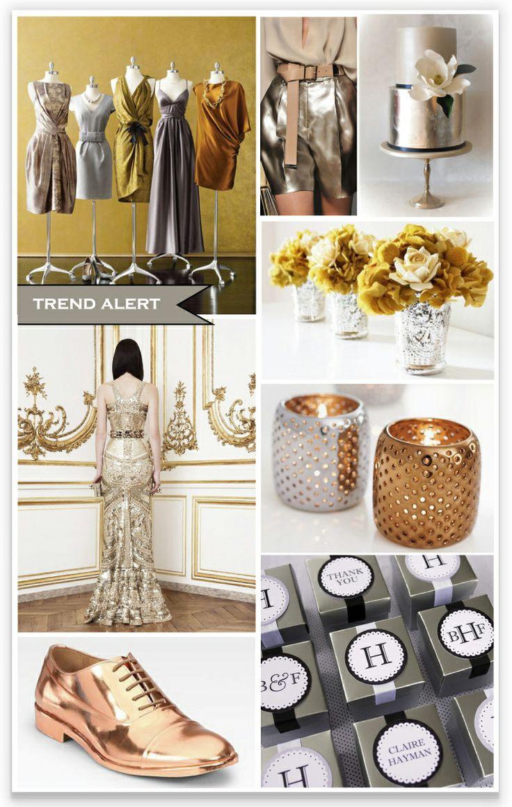 metallic wedding - Bing Images