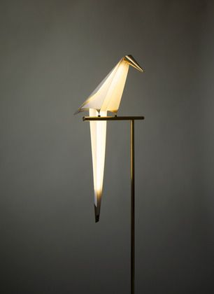 Umut Yamac's Perch #Light > The architect's perfectly balanced, origami-inspired paper light