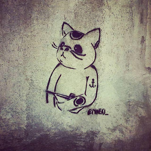 (#Paris) #streetart #graffiti #stencil #mineki