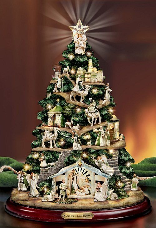 Beautiful!  Irish Nativity tree.  I really would like a nativity set for my house....