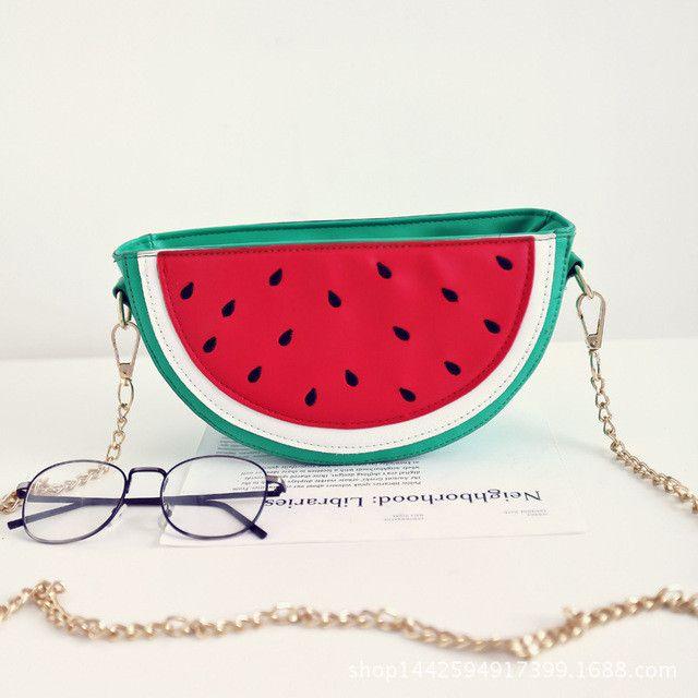 Fashion Cute Women Cupcake Ice Cream Fruit Shape Cartoon Fashion Bags Chain PU Leather Ladies Small Mini Shoulder Messenger Bags