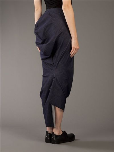 COMME DES GARÇONS - Draped Skirt __ $403, avail in size Sm. & Med.    COMME DES GARÇONS Draped Skirt