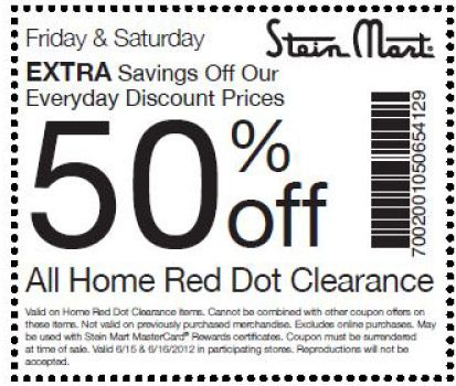 Stein mart coupons printable 2018