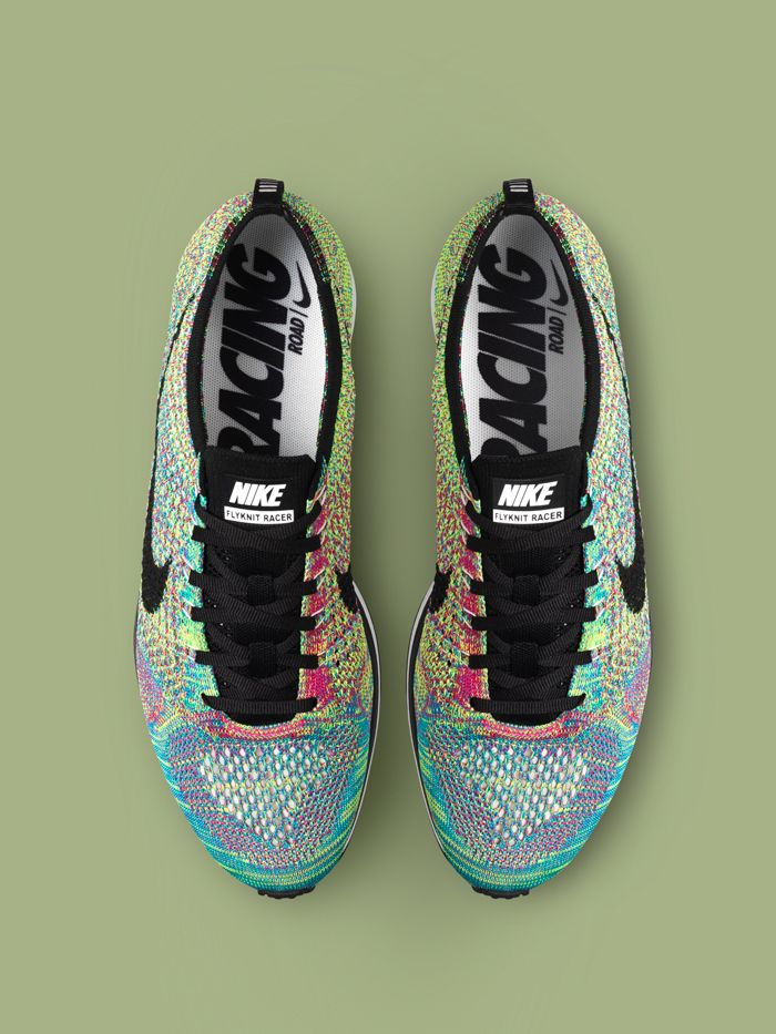 Nike Flyknit Racer Multi Colour // oh yeah! (and I don't even run...) #productdesign #wearabledesign