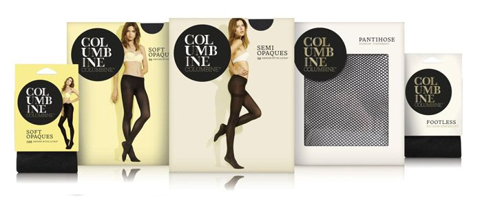 Columbine, the iconic hosiery brand, has been given a fashionable new look at the hands of brand design expert Dow Design