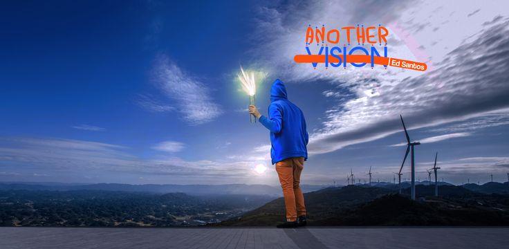 """Foto aleatória encontrada no Facebook e um pouco de ideias formando essa Arte que dei o nome de """"Another Vision"""" por mostrar que poucas pessoas ficam no topo."""