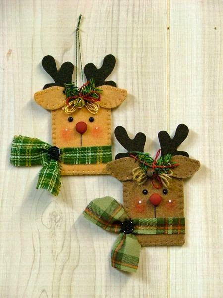 15 idéias de Enfeites de Natal em feltro