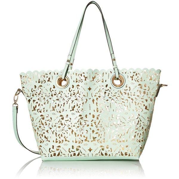 Aldo Montemesola Tote Bag (1,590 THB) ❤ liked on Polyvore featuring bags, handbags, tote bags, aldo tote, white handbags, laser cut tote, white purse and aldo handbags