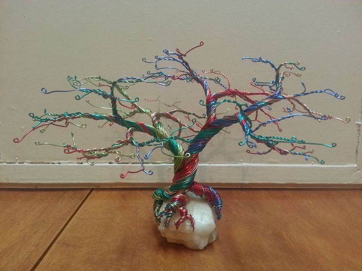 Multicolor wire tree.
