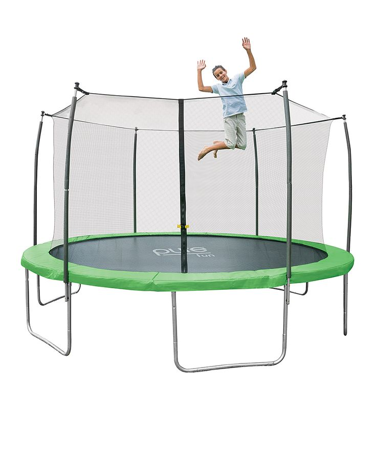 Jumpsport Elite 14 Ft Powerbounce Trampoline With: 1000+ Ideas About Trampoline With Enclosure On Pinterest