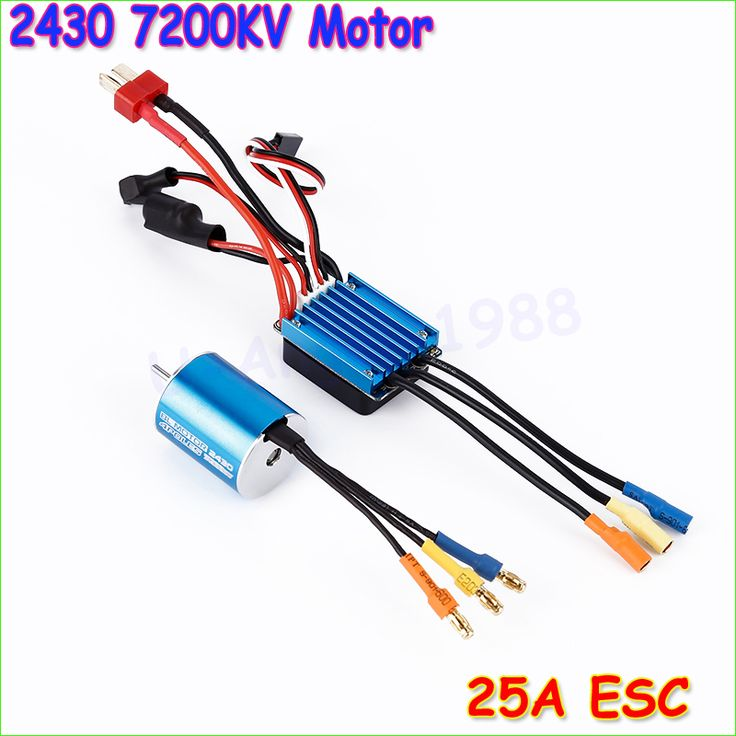 New 2430 7200KV 4P Sensorless Brushless Motor with 25A Brushless ESC Electric Speed Controller for 1/16 1/18 RC Car Truck