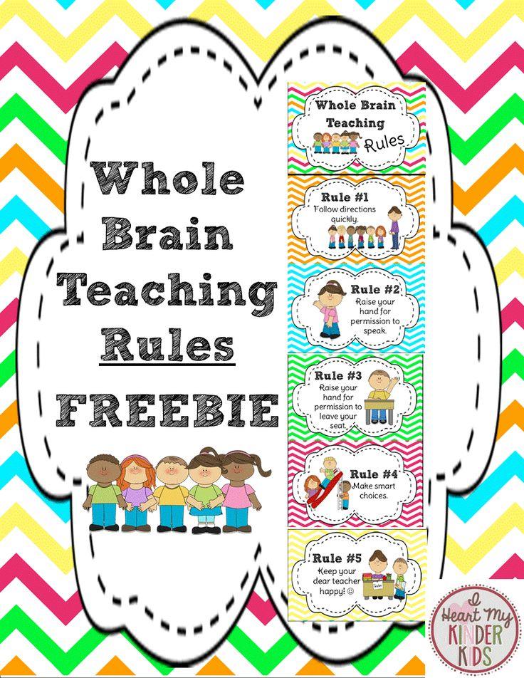 FREEBIE: Whole Brain Teaching Rules in a Chevron print.