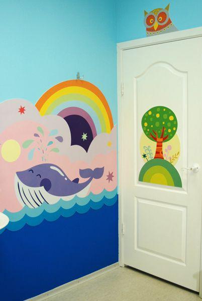 Kid room on behance wall art inspiration pinterest for Mural tadika