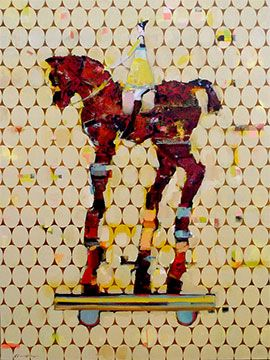 Buy Paintings Of Horses Online | Wall Paper Filly I by Pascale Chandler | StateoftheART
