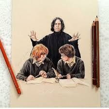 Image result for harry potter drawing