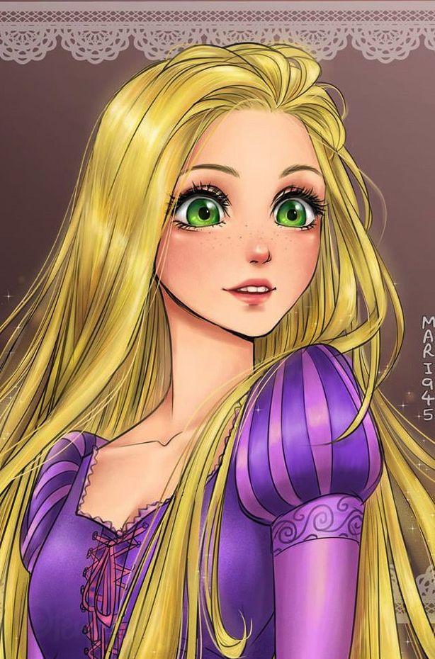 #Raiponce dessinées façon manga. #princesse  #disney #manga fénoweb