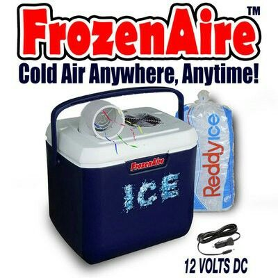 FrozenAire battery operated air conditioner - Redneck Air conditioner from Batterysavers...