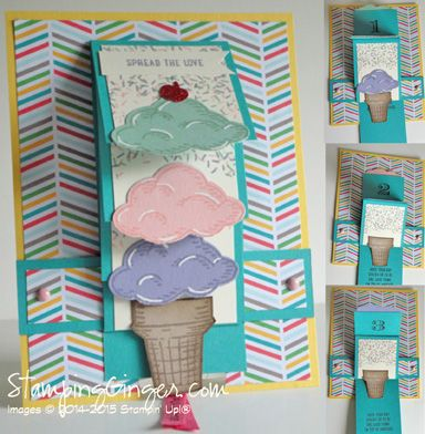 Waterfall Scoops by Stamping Ginger - Cards and Paper Crafts at Splitcoaststampers