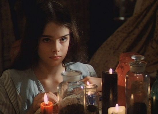 "Violet (Brooke Shields) to Bellocq (Keith Carradine): ""You think of me as a child."" -- from Pretty Baby (1978) directed by Louis Malle"