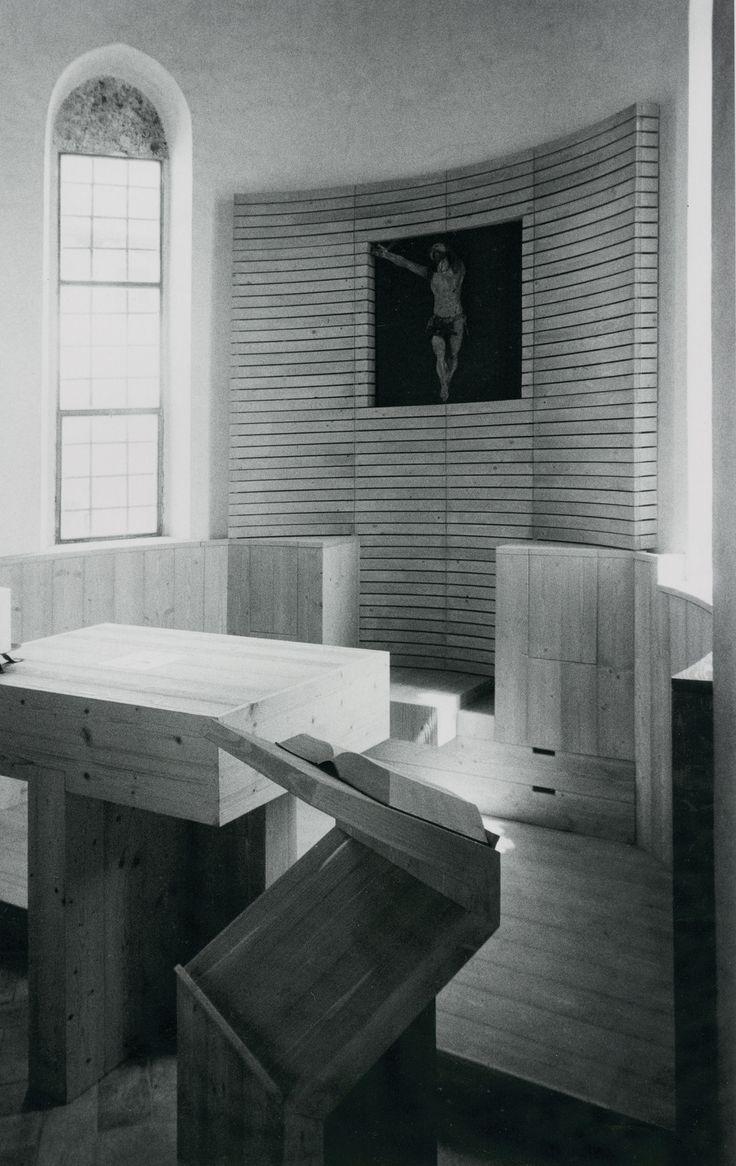 sandro pittini · Ricostruzione della cappella di san Michele presso il Duomo di Venzone crollata a seguito degli eventi sismici del 1976